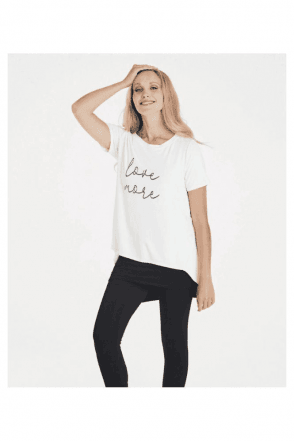 Love More slogan tee