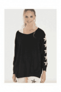 A Postcard From Brighton Slouchy sweat shirt with five stars