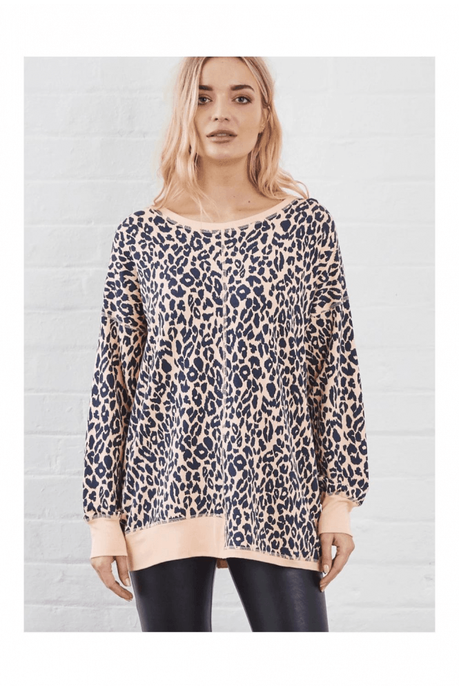 A Postcard From Brighton SUNDAE TEE KIM ANIMAL PRINT SWEAT TOP