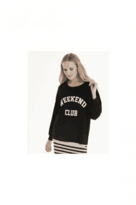 A POSTCARD FROM BRIGHTON WEEKEND CLUB PRINT SWEAT
