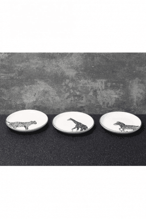 Animal Luxe Assorted Trinket Dishes Black