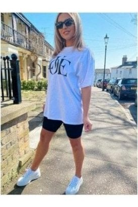 LOVE Oversized Tee White