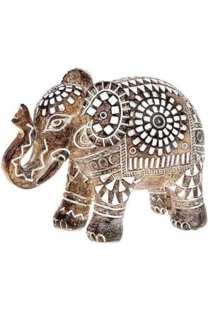 Aztec Elephant Wood Small