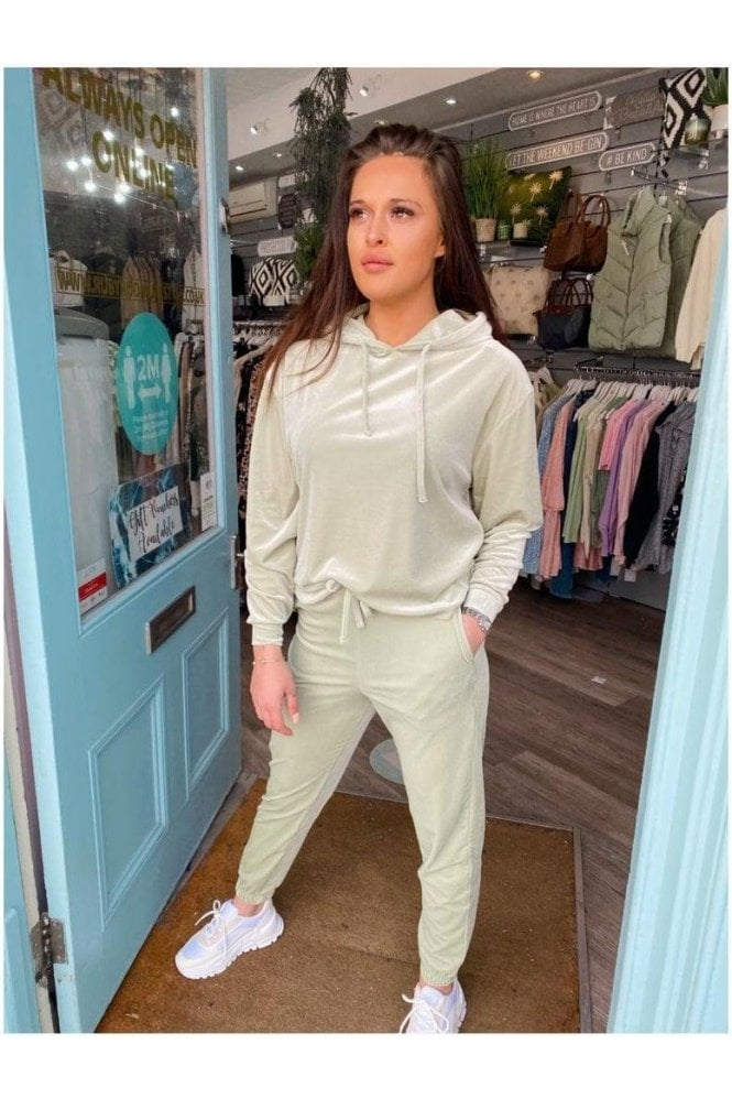 Bebe Velour Sweatpants Green
