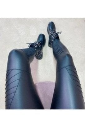 Biker Wet Look Leggings