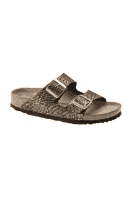 Birkenstock Arizona Sandal - Shiny Python Black