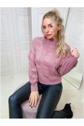 BLACK SALE Cable Knitted Pullover