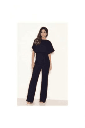 BLACL SALE Tie Waist Navy Jumpersuit