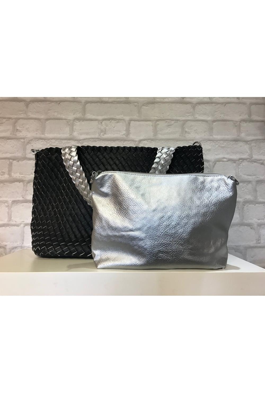 8cbd48777663 Bottega Veneta Inspired Weave Shoulder Bag Black - from Ruby Room UK