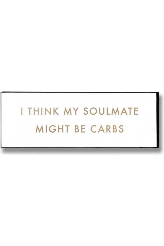 Carbs Soulmate Gold Foil Plaque