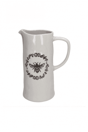 Ceramic Jug Large - Embossed Honey Bee