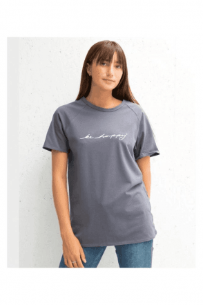 "CHALK ""Be Happy"" Logo Darcey Tee"