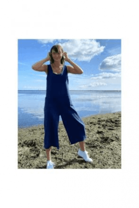 CHALK Bev Jumpsuit  Navy