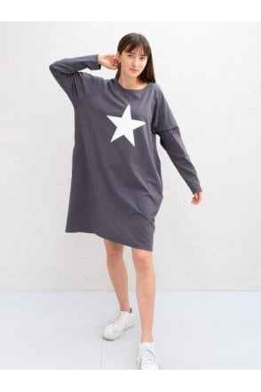 CHALK Brody dress charcoal