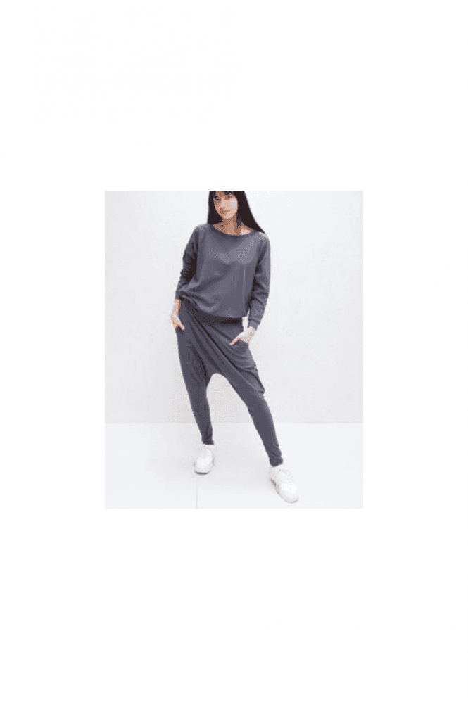 CHALK Holly Jersey Harem Pant Grey