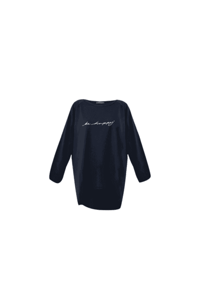 CHALK Navy Robyn Be Happy Top