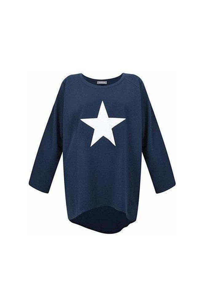CHALK Robyn Star Top Navy