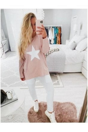 CHALK Robyn Star Top Pink