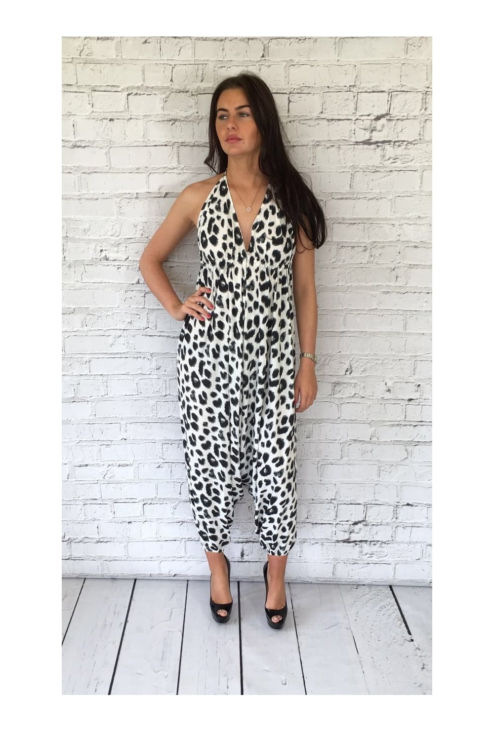 e1df179280ec Dancing leopard genie print jumpsuit dancing leopard from ruby room jpg  1000x1483 White genie jumpsuits