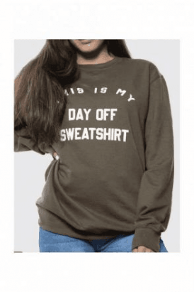 Day Off Slogan Oversized Sweatshirt Product Code