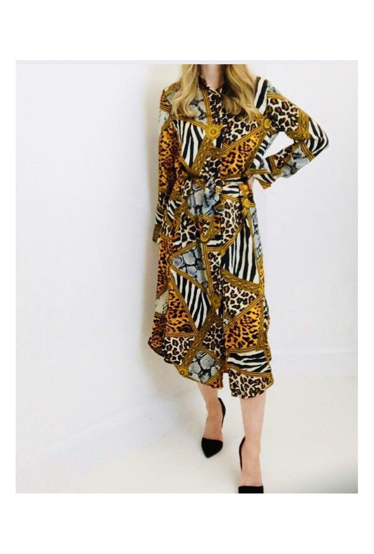 24b1563898b Designer Inspired Print Shirt Dress - from Ruby Room UK