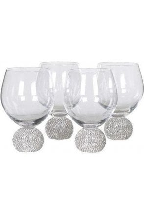 Diamante Dining Glasses - Set of 4 - Click and Collect Only