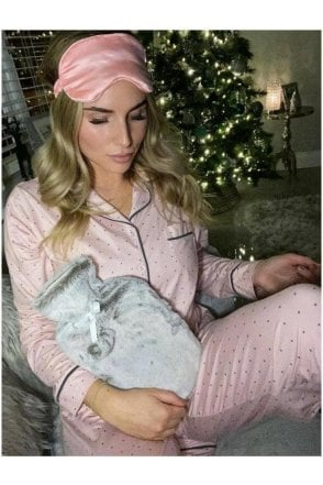 Faux Fur Hot water Bottle and Eye Mask