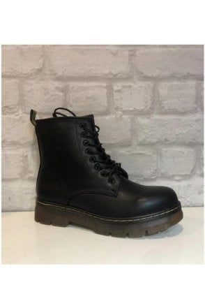 Faux leather Dr Martens inspired Boots