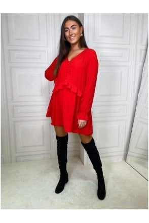 Gigi Loose Fit Tunic Red