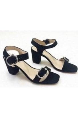 Ring Detail Block Heeled Sandal
