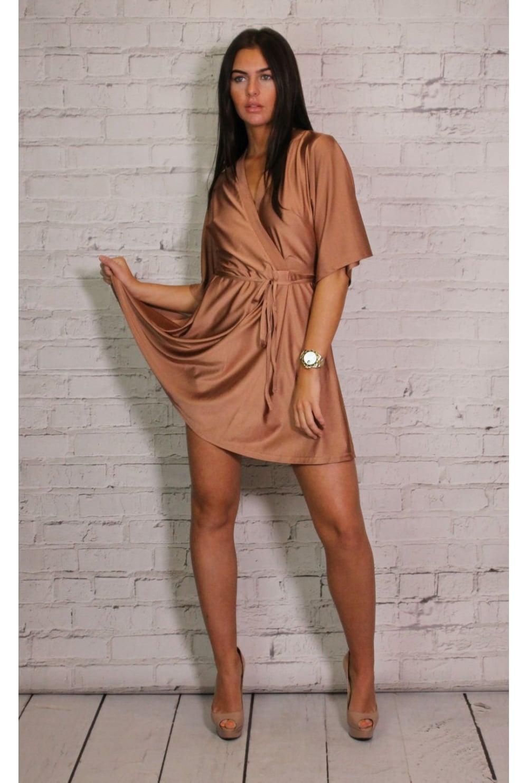 dd52efbdcc Glamorous Satin wrap dress - Glamorous from Ruby Room UK