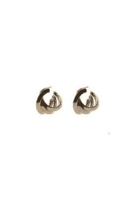 Gold Triple Hoop Earring