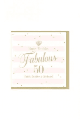Gorgeous 50th Birthday Card