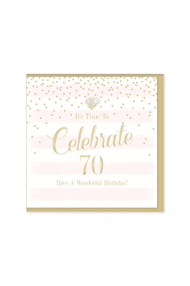 Gorgeous 70th Birthday Card