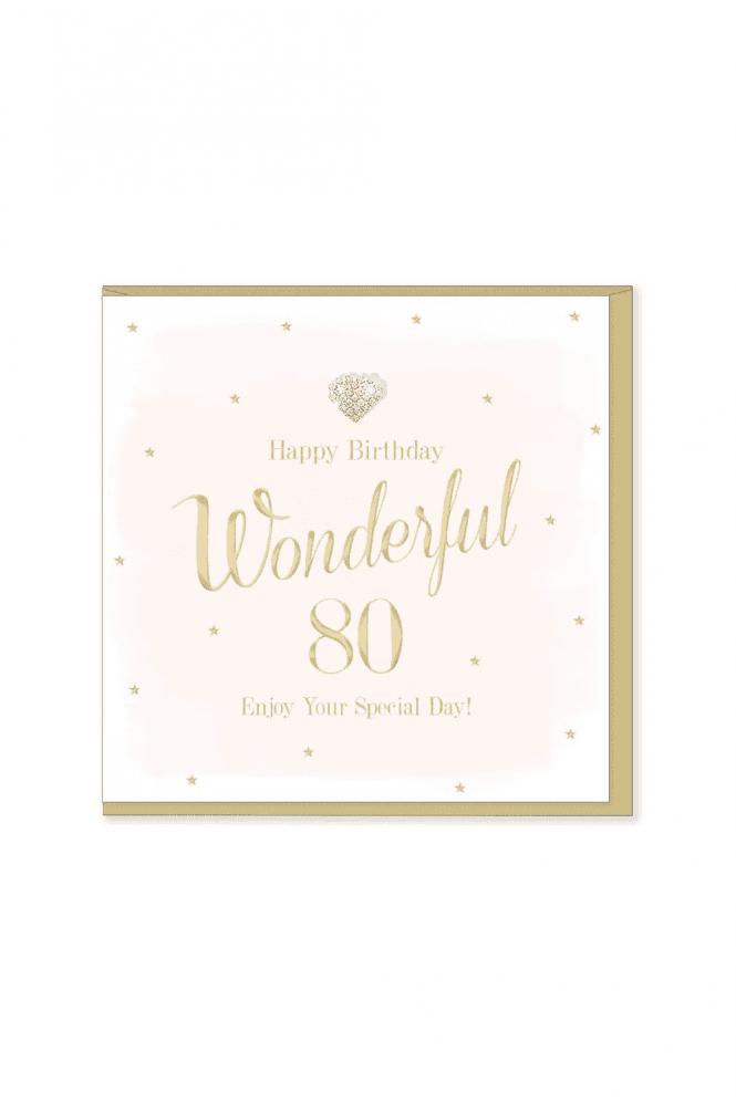 Gorgeous 80th Birthday Card