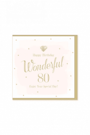Gorgeous 80th Birthday Card