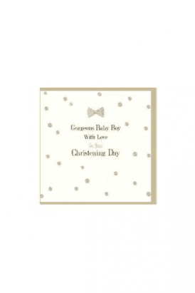 Gorgeous Baby Boy Christening Card