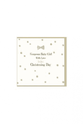 Gorgeous Baby Girl Christening Card