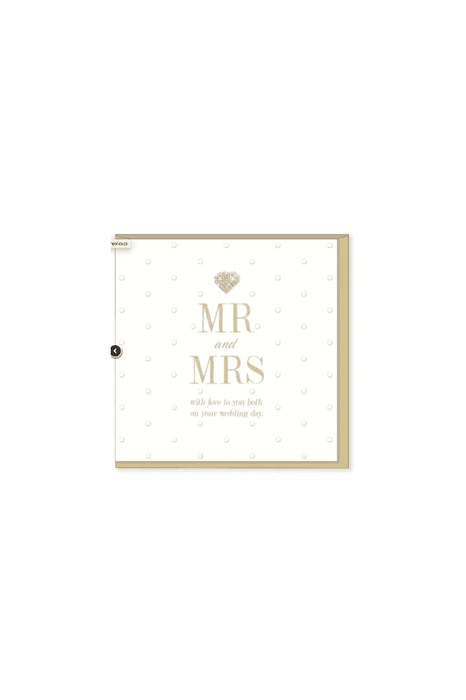 Gorgeous Mr & Mrs Wedding Card