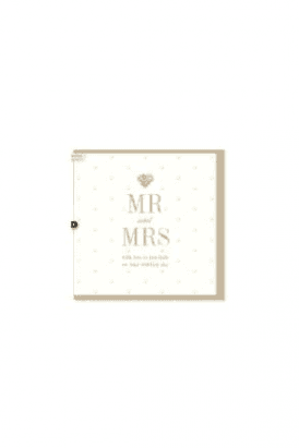 Gorgeous Mr & Mrs Wedding Card