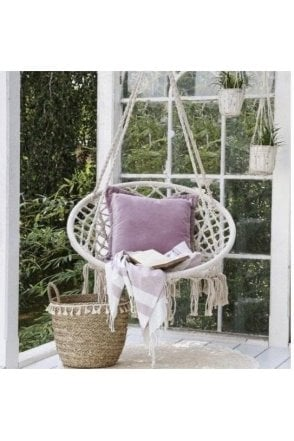 Hanging chair, antique cream