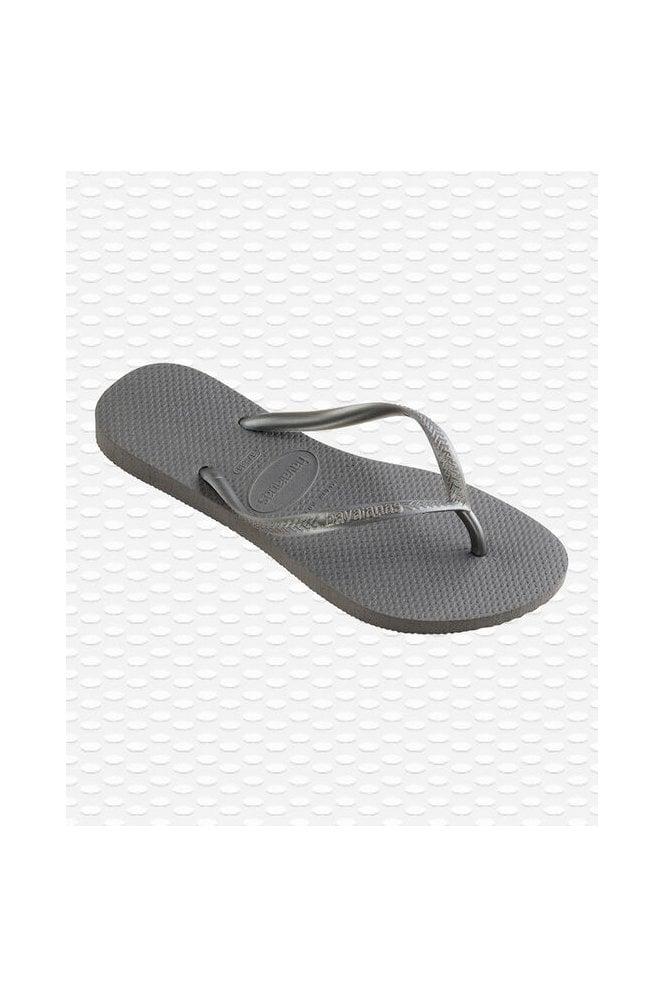 Havaianas Slim Flip Flops Silver