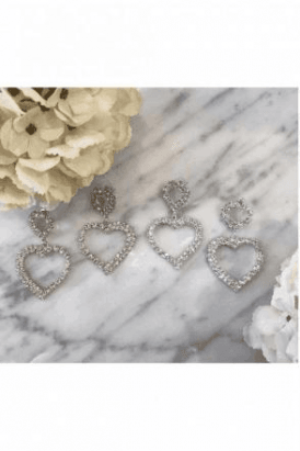 HEART DIAMANTE EARRING