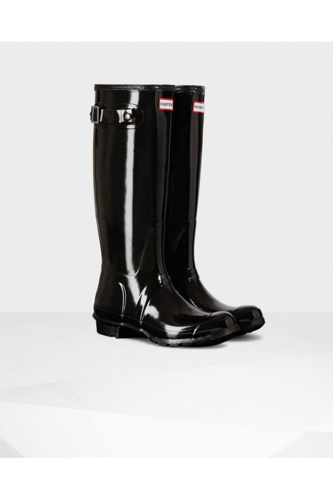 Hunter Boot Black Original Tall Gloss Wellington Boot