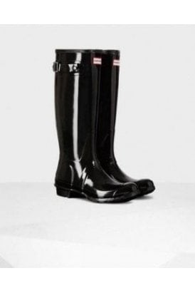 Black Original Tall Gloss Wellington Boot