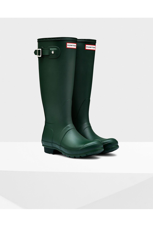 hunter boot green matt original tall wellington boots hunter boot from ruby room uk. Black Bedroom Furniture Sets. Home Design Ideas