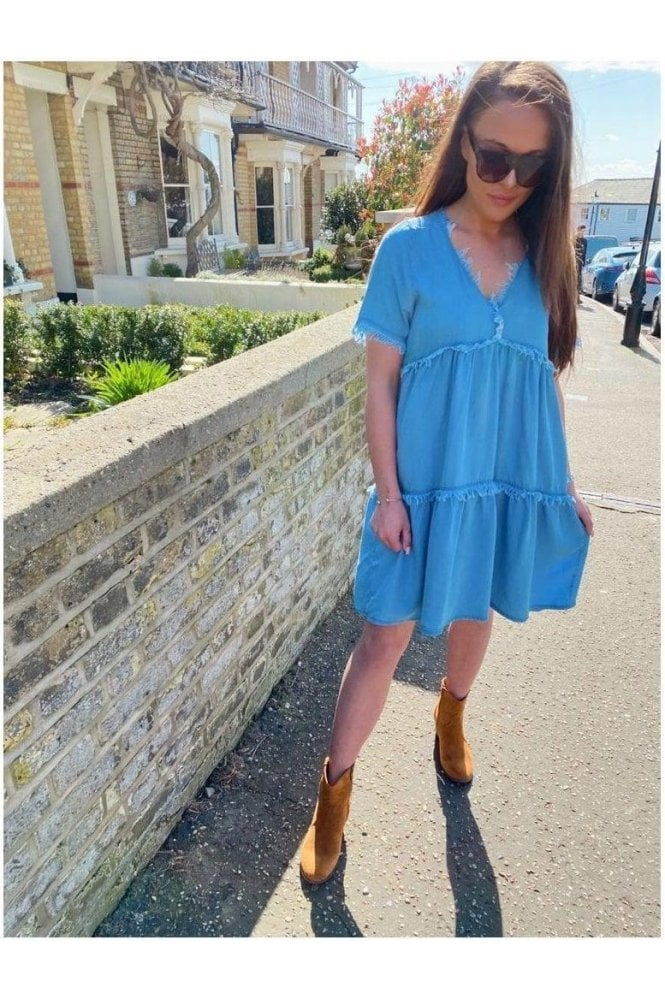 Jacqui Denim Swing Dress