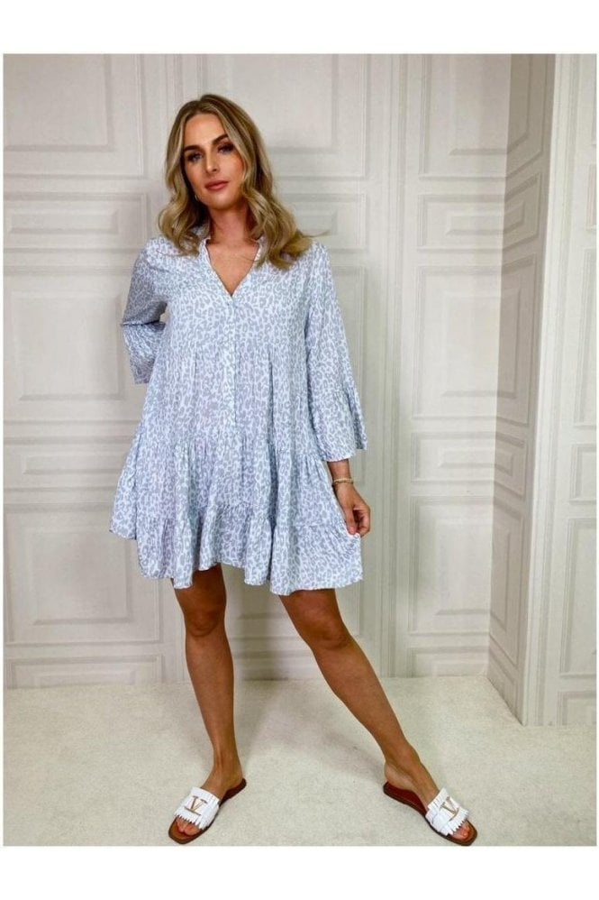 Katie Tiered Dress Grey