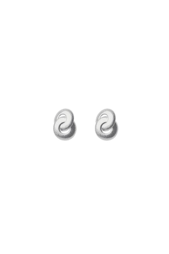 Knot Silver Earrings