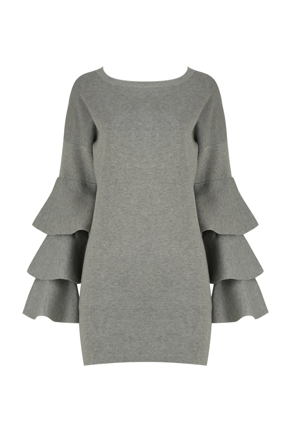 Layered Bell Sleeve Long Jumper/Dress - from Ruby Room UK